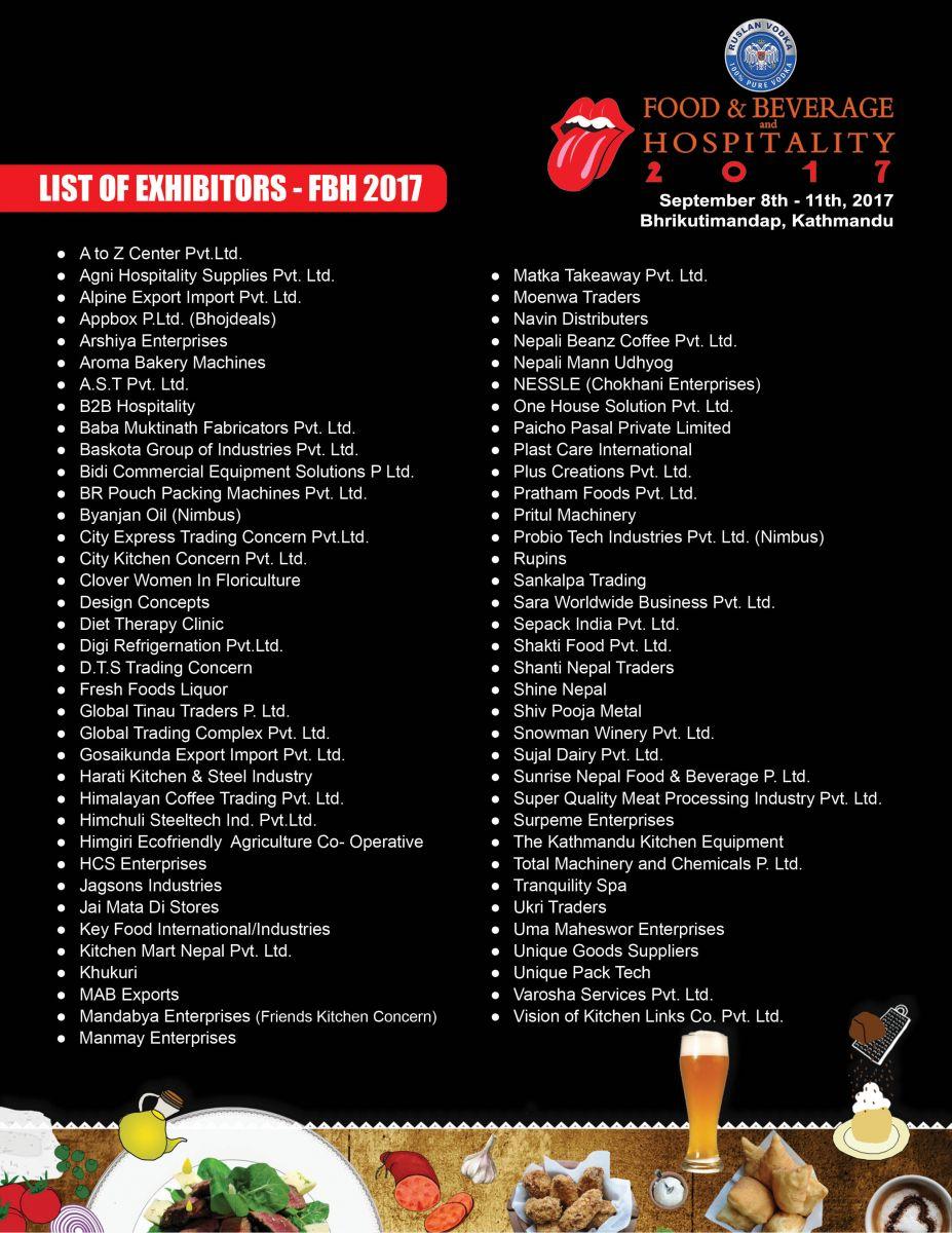 Exhibition List 2019